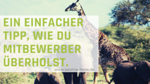 Bessere Texte schreiben für deine Website mit den Giraffentricks