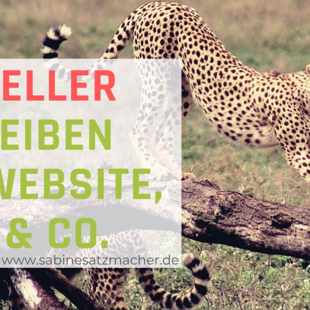 Schneller schreiben für Blog, Website, Newsletter und Co